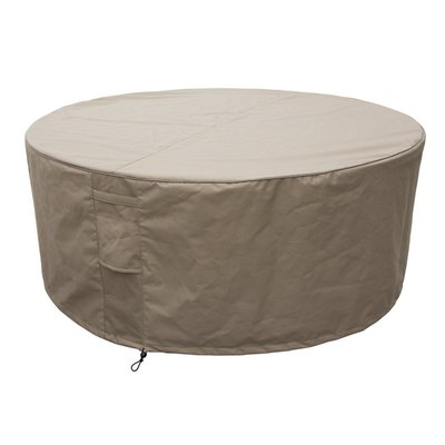 SPA Cover Round Size L beige, Ø 212 x 68 cm, heavy duty 600D Polyester